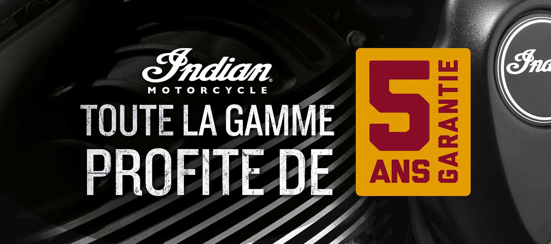 Indian Motorcycle Garantie 5 ans